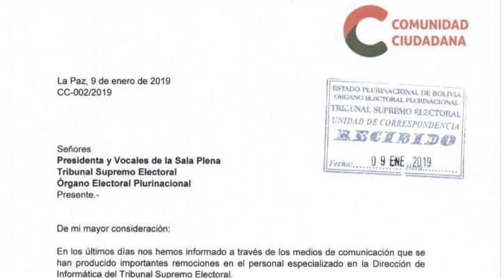 Mesa pide audiencia al Órgano Electoral para conocer los despidos de técnicos clave