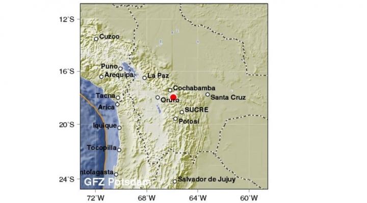 Temblor con epicentro en Cochabamba se sintió en Chile y Perú
