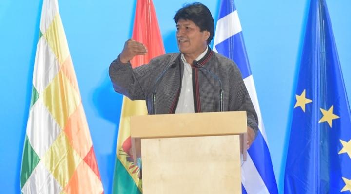 Morales propone en Grecia crear un foro de presidentes y partidos de izquierda de Europa y América