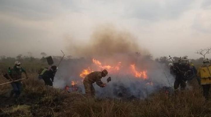 Santa Cruz: más de una decena de municipios afectados por el fuego, se reportan 2.421 focos de calor
