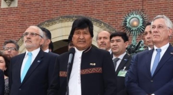 Evo Morales expresó que Bolivia no dejará de luchar contra el enclaustramiento