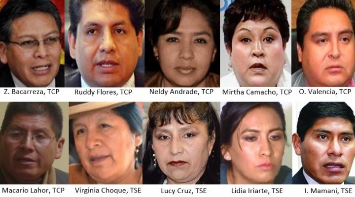 Circulan las fotografías de las 10 personas que permitieron a Morales ser candidato