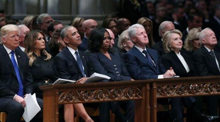 Funeral de George H. W. Bush: las tensiones detrás de la histórica foto de cuatro presidentes de EEUU juntos (y otros momentos destacados)
