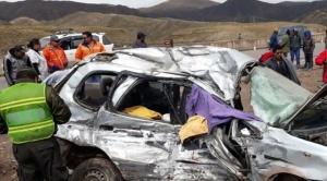 Ocho personas mueren en dos accidentes de tránsito