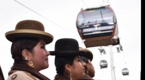 Línea Café del Teleférico, la más corta, empezó a operar en La Paz