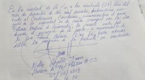 Notaria de fe pública se trasladó en persona hasta domicilio de periodista para entregar carta que anuncia juicio penal