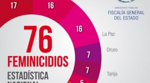 Hasta agosto, se registraron 76 feminicidios y 58 infanticidios