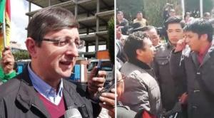 Seguidores del MAS en El Alto lanzaron gritos contra Óscar Ortiz de Bolivia Dice No