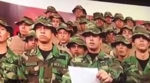 Militares venezolanos en Perú respaldan a Juan Guaidó