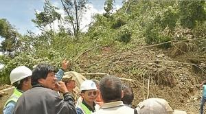 Reportan que 14 personas fallecieron por deslizamientos y Evo anuncia vuelos solidarios