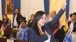 Salvatierra, de madre chilena, dice que es orgullosamente boliviana