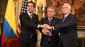 """Mike Pence se reunió con Juan Guaidó y le aseguró que """"estamos con usted al 100%"""""""