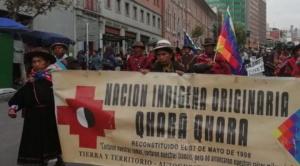 Nación Qhara Qhara llega a La Paz después de 41 días de marcha y el Gobierno los descalifica 1
