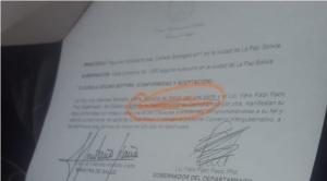 """Patzi firma convenio del SUS, después la borra porque había errores y cree que """"no hay seriedad"""""""
