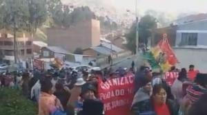 Vecinos de Achachicala y de 17 comunidades aledañas de Alto Patapampa marchan contra nuevo relleno sanitario 1