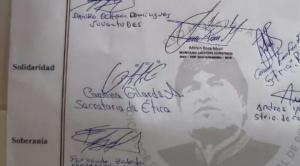 """Otro documento con """"Evo dictador"""" fue publicado por Juventudes del MAS en Beni 1"""