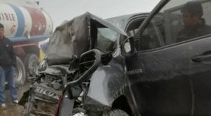 Dos autoridades mineras mueren en accidente de tránsito, en carretera a los Yungas