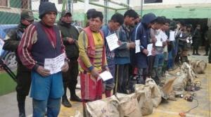Aprehenden a 18 ladrones de minerales en Huanuni, simulaban ser trabajadores