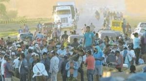 En el cuarto día de protestas, productores de soya de Cuatro Cañadas y San Julián van al bloqueo indefinido
