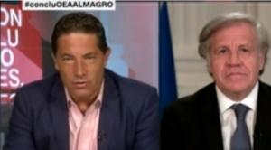 """Almagro en CNN: la reelección """"no es un derecho humano"""" y """"yo no me llamo Luis reelección"""""""