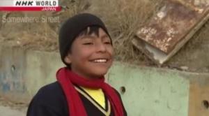 La cadena internacional japonesa NHK descubre al talentoso niño futbolista Deymar 1