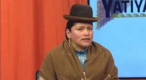 Virginia Velasco, la exministra de Evo, renuncia a la candidatura a senadora