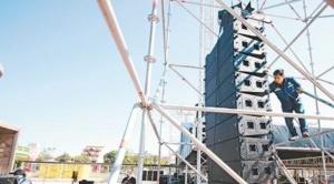 El MAS instala ostentoso escenario para proclamar a Evo y Álvaro en el Cambódromo