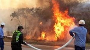 Incendios en municipio de Roboré se redujeron, informa el presidente Morales