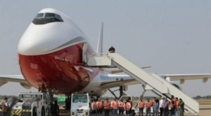 Avión Supertanker inició a las 15.02 tareas de extinción de incendio en la Chiquitanía 1