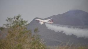 Para aplacar incendios se prevé que Supertanker realice entre dos y tres vuelos esta jornada 1