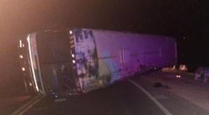 Accidente de un bus deja al menos siete fallecidos en la vía Oruro Cochabamba
