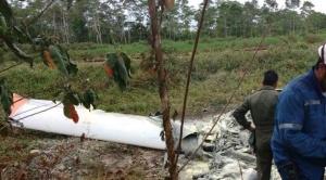 Un avioneta de la FAB cae cerca de Bulo Bulo, se incendia y tripulantes salen ilesos