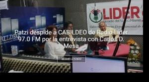 Patzi despide a Amalia Pando porque en radio de la Gobernación de La Paz se entrevistó a Mesa