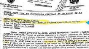 Hermano del ministro Cocarico va la cárcel por presunta estafa en legalización de tierras