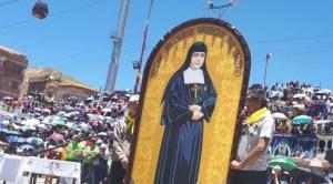 En Oruro, celebran la canonización de la primera santa boliviana con multitudinaria misa