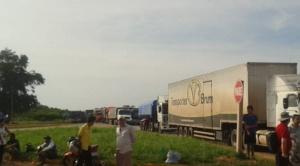 En Roboré, se reanuda el bloqueo de la carretera internacional  1