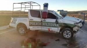 Un policía fallece en accidente de tránsito cuando se dirigía para escolar a marchistas 1
