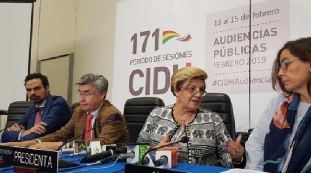 """La CIDH concluye sus sesiones con un llamado a los bolivianos a """"consolidar su democracia"""""""