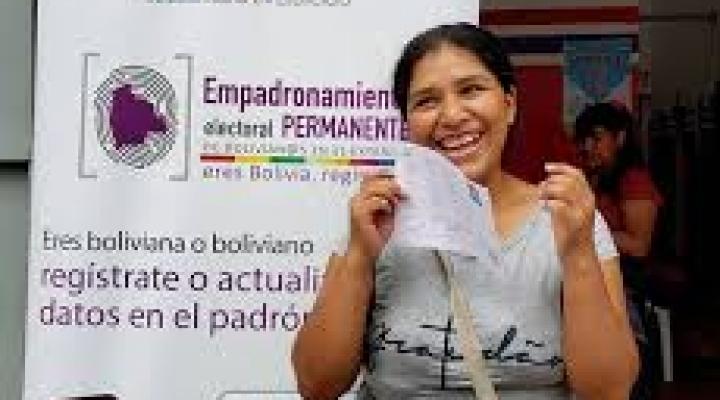 El padrón electoral en el exterior cae en 11,54% y en Bolivia aumenta 0,81%