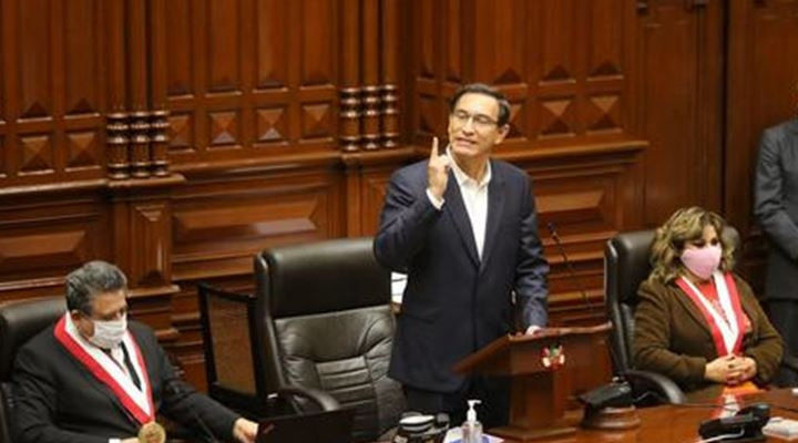 El Congreso del Perú rechazó la destitución del presidente Martín Vizcarra