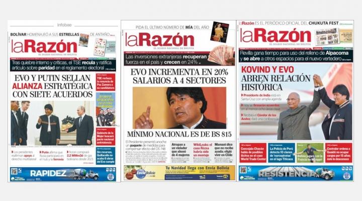 Periodista revela que La Razón reportaba sus titulares de portada al Ministerio de Comunicación