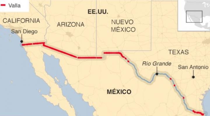 Cuánto se ha construido realmente del famoso muro de Trump con México y quién lo está pagando