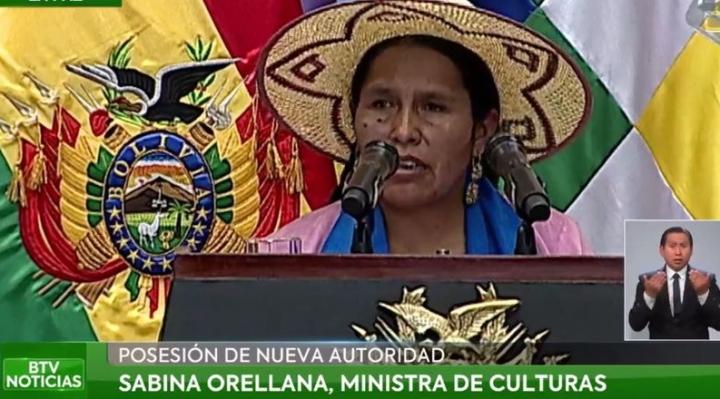"""Sabina Orellana, integrante de las """"Bartolinas"""", es Ministra de Culturas"""