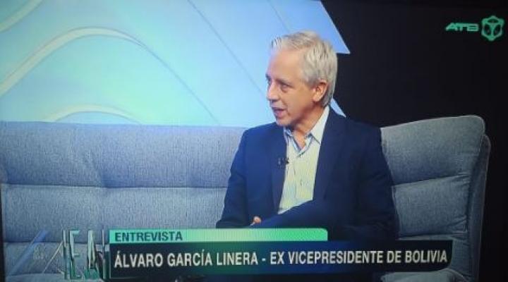 Reaparece García Linera y dice que no ocupará ningún cargo público y se quedará en el país