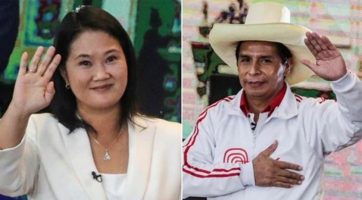 Incertidumbre en Perú: encuesta a boca de urna vaticina un escenario reñido entre Keiko y Castillo