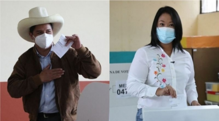Perú: Castillo amplía su ventaja sobre Fujimori en la recta final del conteo de las presidenciales