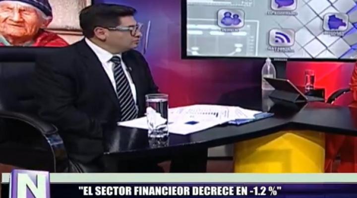 Gobierno reporta decrecimiento de -1,2% en el sector financiero