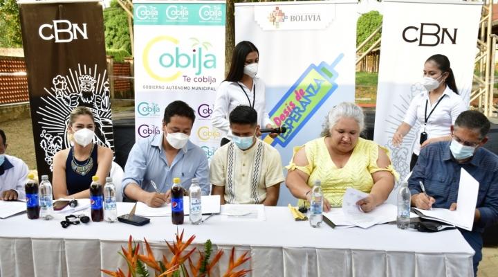 CBN dona una planta generadora de oxígeno a Cobija y destaca trabajo coordinado con las autoridades