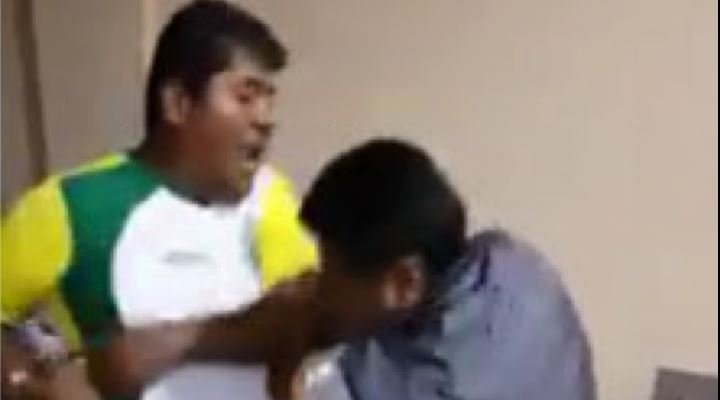 Alcalde de Alto Beni, de las filas del MAS, propina una golpiza a un transportista