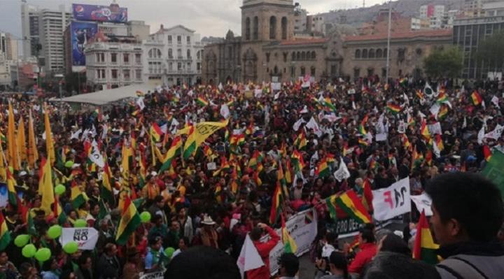 Cabildos y marchas en defensa de la democracia se realizarán en La Paz, Cochabamba y Tarija